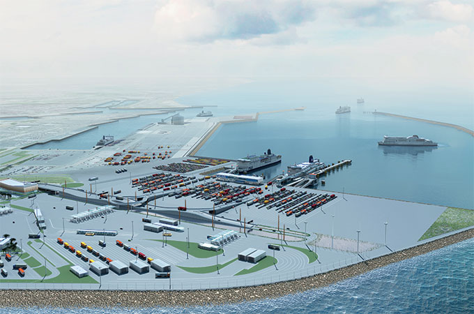 Port Boulogne-Calais : The yard of the new port will be completed.