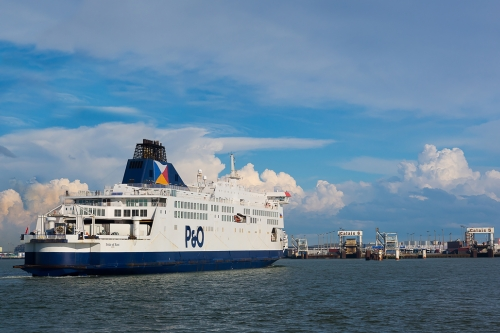 """English Channel freight volumes in first half of year were highest ever"", says P&O Ferries."