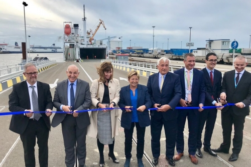 Inauguration of the Calais - Tilbury maritime line: an historic moment for the Port Boulogne Calais