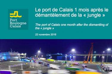 "Security fully recovered at the port of Calais 1 month after the dismantling of the ""Jungle"""