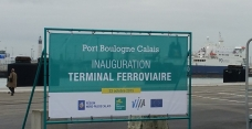 The Boulogne Calais Port rail terminal was inaugurated this morning